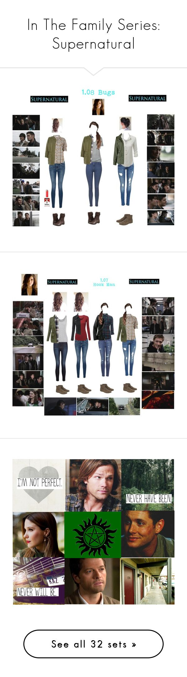 """""""In The Family Series: Supernatural"""" by chell-p ❤ liked on Polyvore featuring supernatural, wattpad, fanfiction, tvshow, art, winchester, inthefamily, harrietwinchester, OC and GenderSwap"""