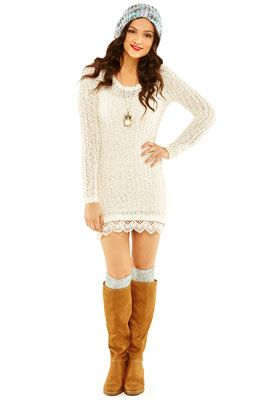 I love this sweater dress from Beth's line but they don't have it anymore :/
