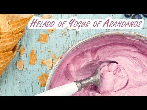 Helado de Yogur de Arandanos sin Maquina Heladera - YouTube