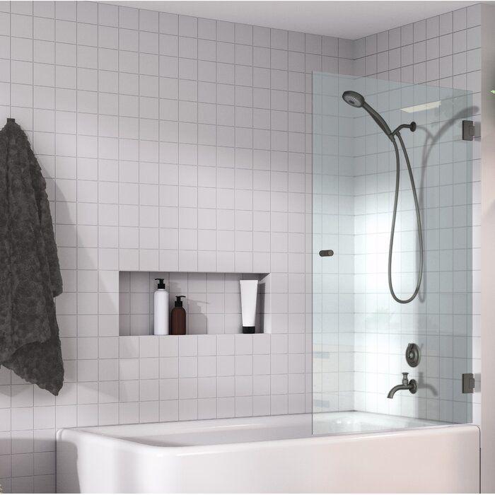 32 X 58 Hinged Frameless Shower Door In 2020 Frameless Shower Doors Shower Doors Frameless Shower