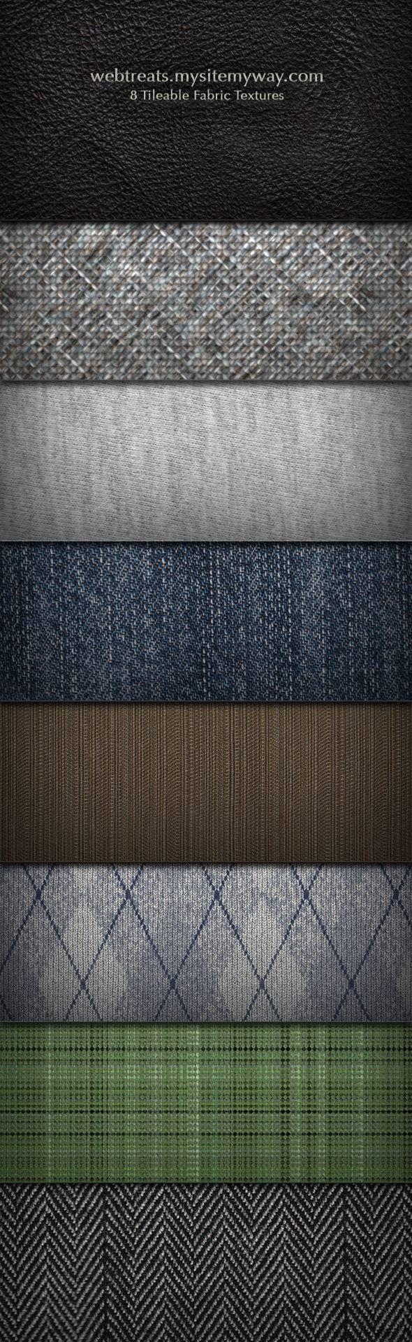 8 Free Tileable Fabric Textures join us http://pinterest.com/koztar/