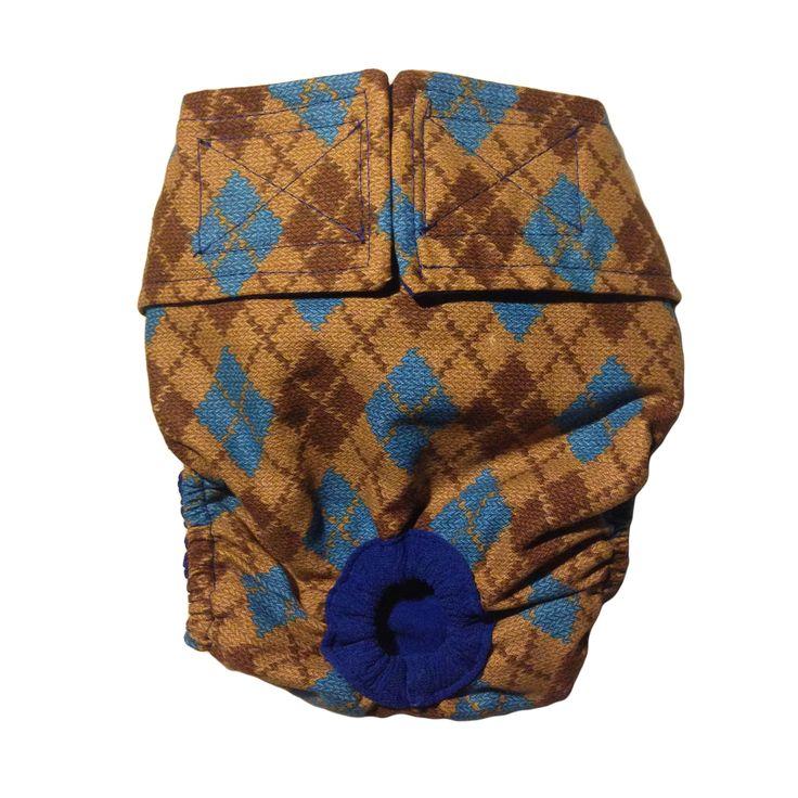 Designer doggie diaper argyle washable coverup dog
