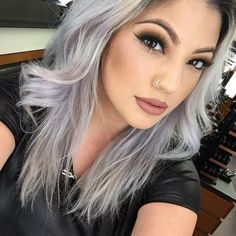2015 Spring and Summer Hair Color Trends - Silver Hair 15