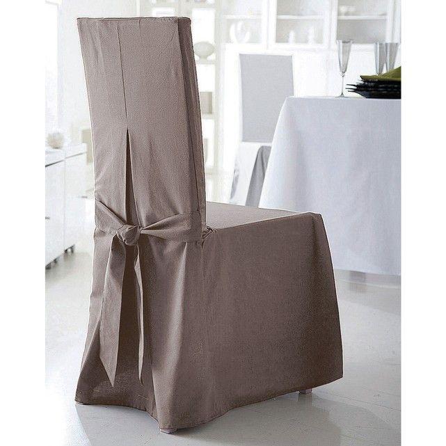 Características de la funda para silla:- Confeccionada en una bonita tela de loneta 100% algodón (220 g/m²), gruesa y resistente. Disponible en colores tendencia.- Acabado refinado: 2 pinzas con vuelo delante, pinza con vuelo y lazo detrás. - Colores garantizados: colores resistentes a la luz y lavado tras lavado (40 °C).Dimensiones de la funda para silla:- Respaldo: altura total 55 cm, grosor 5 cm y ancho 37 cm.- Asiento:  ancho de 37 a 45 cm x profundidad 40 cm.- Faldón: largo 45 cm.A ...
