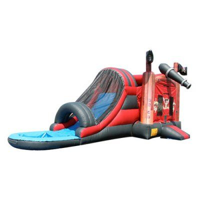EZ Inflatables Pirate Water Bounce House Combo - C183, Durable