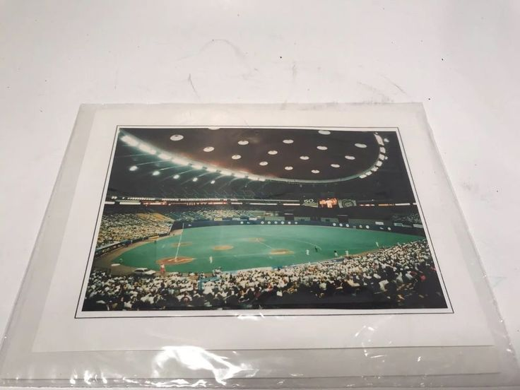 Vintage Baseball Photocard of Olympic Stadium when the Montreal Expos Sealed  | eBay