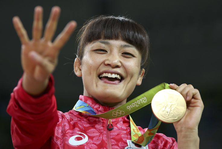 Icho leads Japan's wrestling sweep with historic fourth straight gold #Rio2016 #リオ五輪 #レスリング