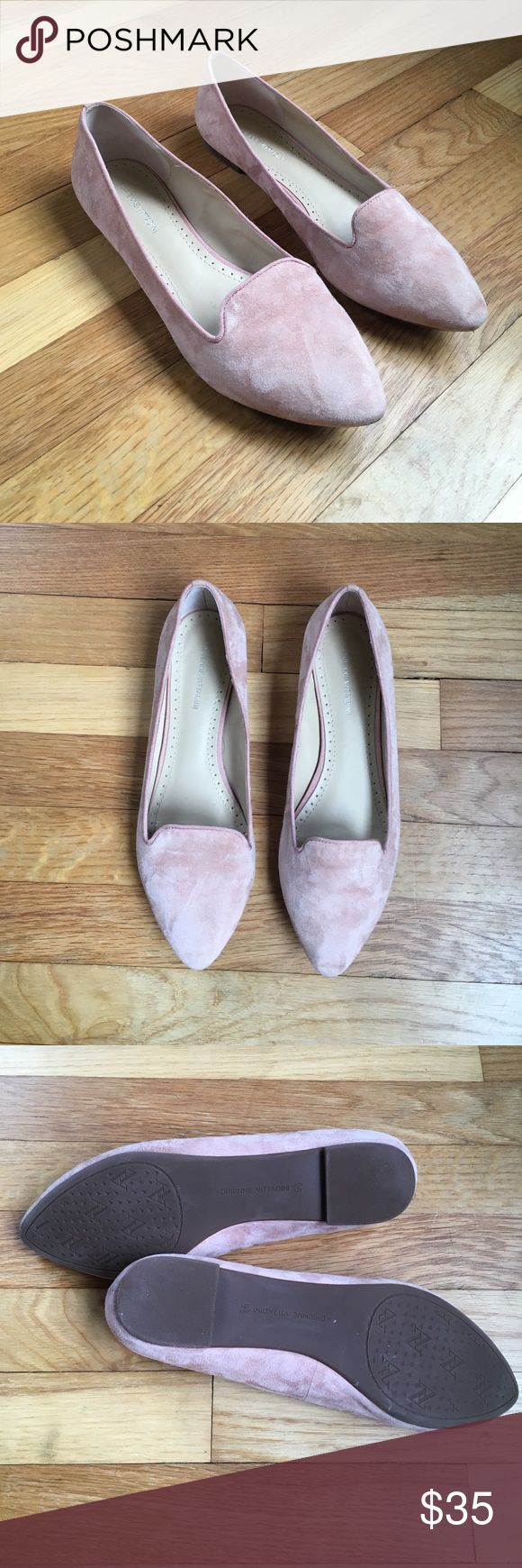 Adrienne Vittandini Suede Benson Flats Adrienne Vittandini Suede Benson Flats. Used condition. Pointed toe. I would describe color as dusty rose. Adrienne Vittadini Shoes Flats & Loafers