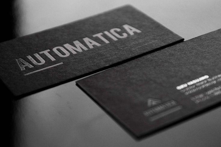 Black Business Cards Design 1