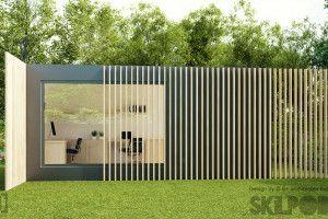 Skilpod Bureau medium tuinbureau  tuin kantoor