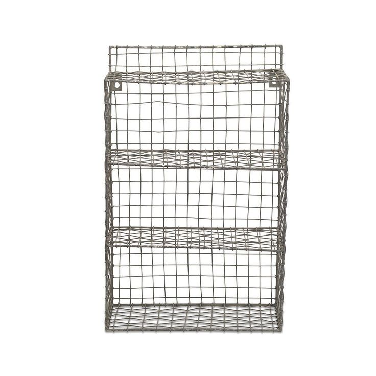 Industrial Wire Wall Shelf Unit