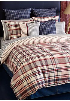 Tommy Hilfiger Vintage Plaid Bedding Collection   Online Only