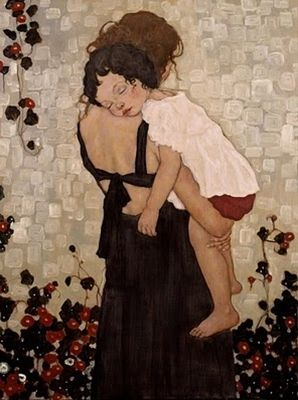 Xi Pan, Mother & Child. Love this image and the feeling it inspires.