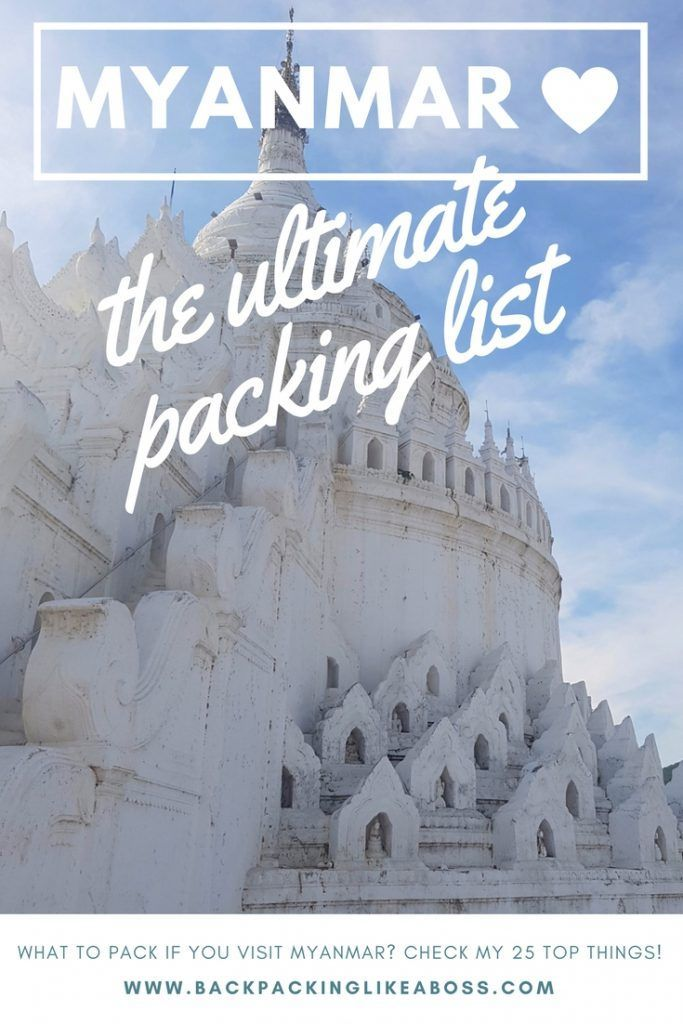 This is the ultimate packing list for Myanmar with 25 items on it that will make your trip so much easier!