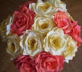 Envirocraftiness: Coffee Filter Roses