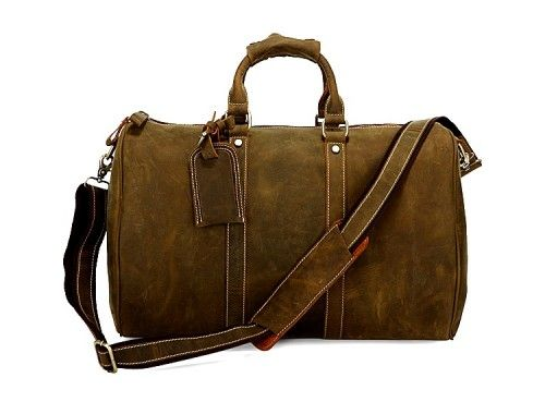 ATLAS: Large Hand Luggage Crazy Horse Leather Bag  A classic large hand luggage crazy horse leather bag that will keep your style cool time after time.  This dispatch bag will impress with its functionality and quality. The perfect balance of classic exclusivity, while maintaining a cool attitude with signature leather craftsmanship.  Perfect for travelling with your gadgets like Laptops, iPads, eReaders, etc.  Ideal cabin size.  £159