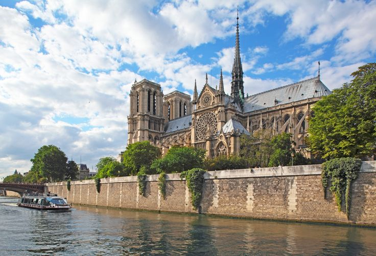 Notre Dame de Paris is perhaps the most famous cathedral in the world. Characterized by its classic French Gothic architecture, the structure was one of the first to use a flying buttress.paris landmarks 15