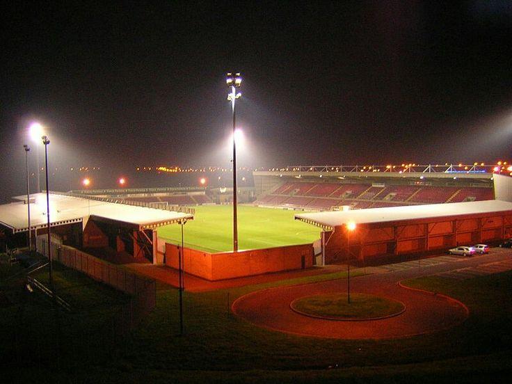 Sixfields Stadium, Northampton Town in the 1990s.