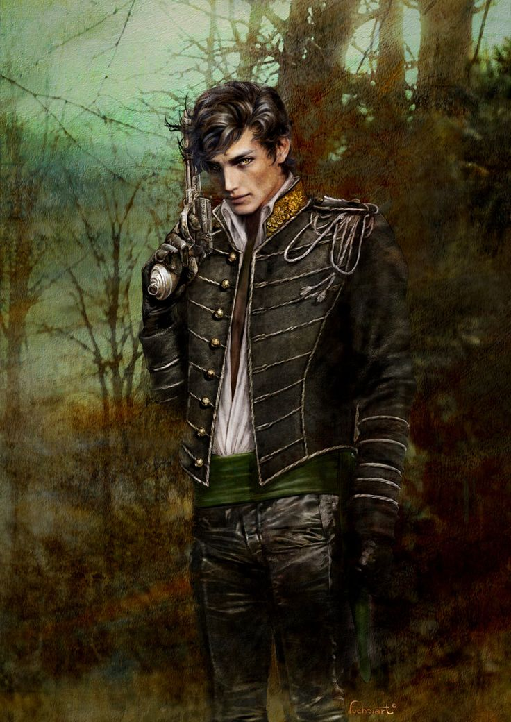 Reminds me of Rhys (High Lord of the Night Court)... Minus the gun, of course. ;)