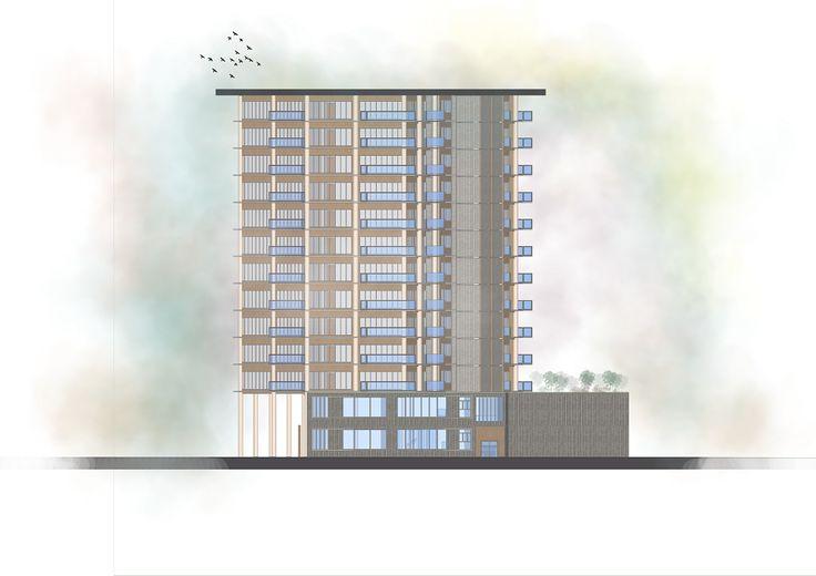 Golontor City Apartment - Left-side Elevation