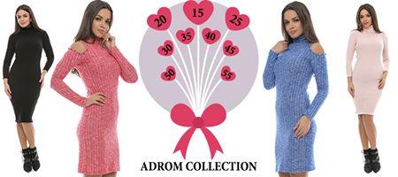 În stocul Adrom Collection se regăsesc rochii  din materiale de calitate, potrivite sezonului de iarnă. Acestea sunt confecționate în propria noastră fabrică, la prețuri de producător! (Rochii între 15 și 55lei).  Intră și tu pe www.adromcollection.ro și achiziționează produsele tale preferate, la prețuri accesibile tuturor! 😍
