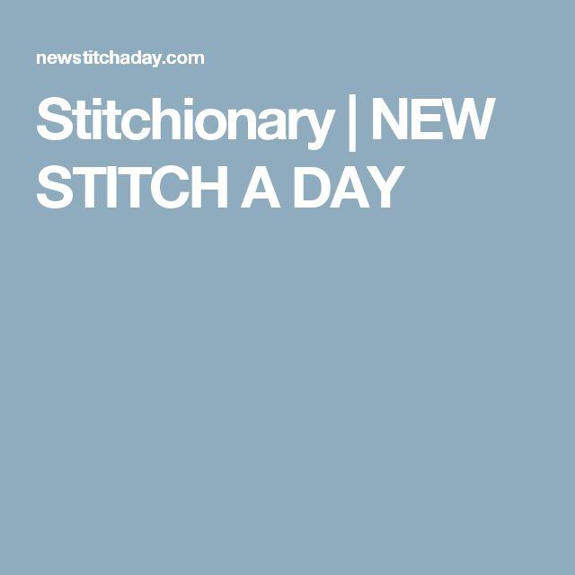 Stitchionary | NEW STITCH A DAY