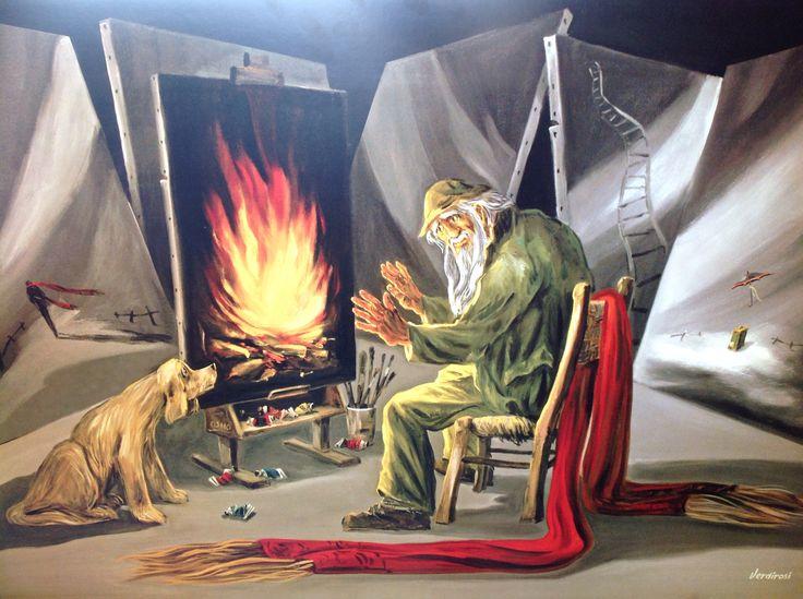 Poster il fuoco sacro dell'arte cm 70/100 Order to  www.verdirosi.com