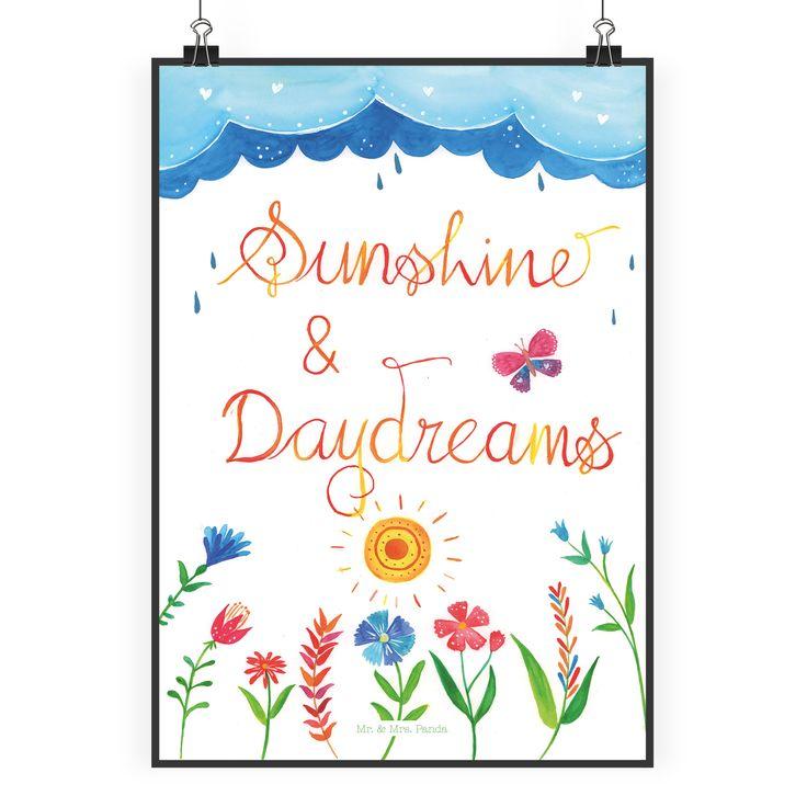 Poster DIN A2 Sunshine and Daydreams aus Papier 160 Gramm  weiß - Das Original von Mr. & Mrs. Panda.  Jedes wunderschöne Poster aus dem Hause Mr. & Mrs. Panda ist mit Liebe handgezeichnet und entworfen. Wir liefern es sicher und schnell im Format DIN A2 zu dir nach Hause.    Über unser Motiv Sunshine and Daydreams  Das Leben ist am Schönsten, wenn man sorglos in der Sonne liegt und seinen Gedanken nachhängt.     Verwendete Materialien  Es handelt sich um sehr hochwertiges und edles Papier in…