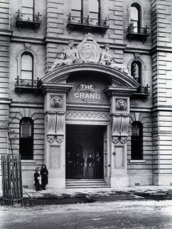 1888 Winsor Hotel, Bourke St (built 1884 originally named 'The Grand'. In 1920 with new owners it was renamed 'The Windsor Hotel)