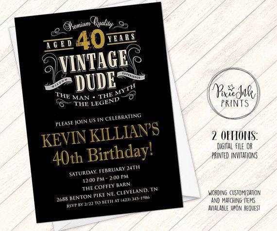 Pin On Vintage Dude Invitations