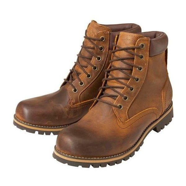"""Men's Timberland Earthkeepers Rugged 6"""" Plain Toe Boots ❤ liked on Polyvore featuring men's fashion, men's shoes, men's boots, men's work boots, mens rugged boots, mens boots and mens work boots"""