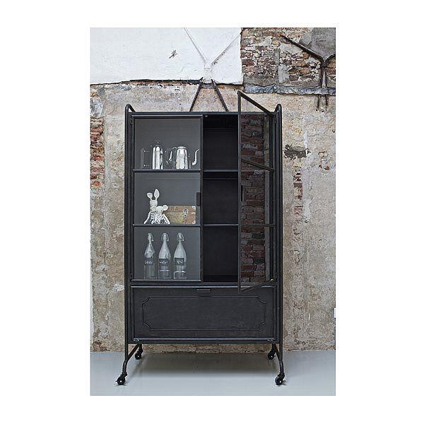 BePureHome Steel Storage Vitrinekast - Zwart