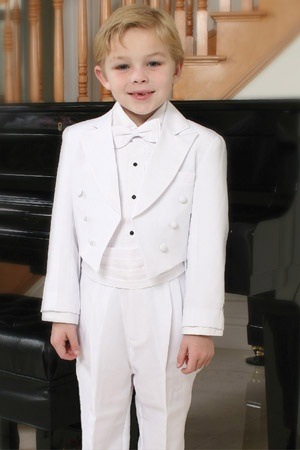 Page Boy/Tailed Tuxedo With Peak Collar - T4001 - Boys Suits & Tuxedos