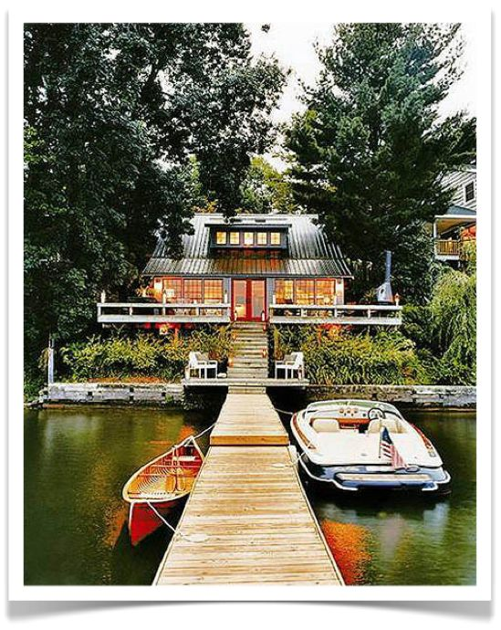Would love this for my weekend home.....: Cabin, Dreams Home, Dreams Houses, Lakes Home, Dreams Lakes Houses, Places, Thom Filicia, The Lakes Houses, Summer Houses