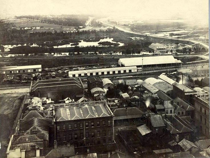 A collection of photographs taken by William and Archibald Patterson from the top or near the top of the spire belonging to Scots Presbyterian Church on the north west corner of Russell and Collins Streets. These photographs depict Melbourne as it was in 1875. Photos: Patterson Brothers (State Library of Victoria) — in MELBOURNE - 1875 (Patterson Brothers).