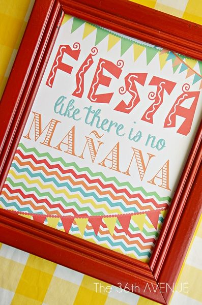 """12 FREE Printables for Cinco De Mayo or any """"Fiesta"""" themed party....some GREAT stuff here!"""