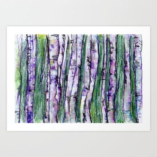 The purple birches - $19.76