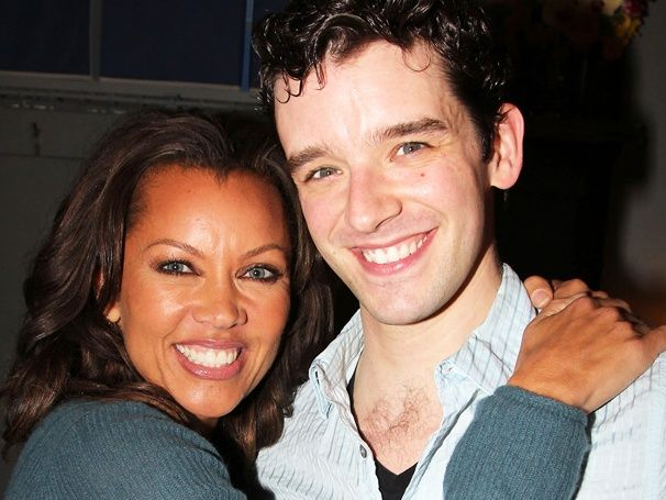 Vanessa Williams visits Ex - Ugly Betty co-star Michael Urie at How To Succeed In Business Without Really Trying
