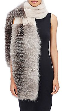 Rabbit & Fox Fur Combo Stole                                                                                                                                                                                 More