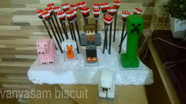 Minecraft ponteiras bombas e personagens