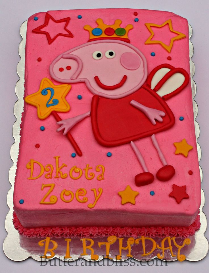 Peppa Pig Cake - Butter and Bliss