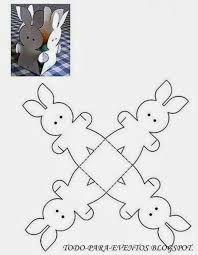 Risultati immagini per molde de conejito en goma eva