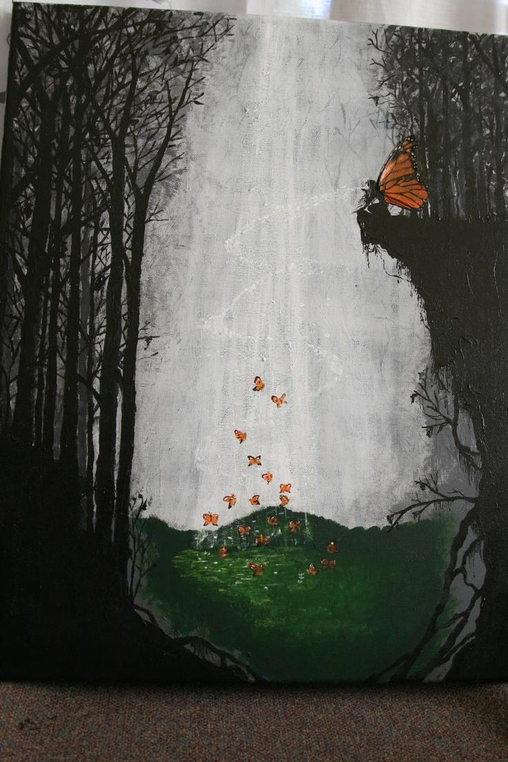 A World of Dreams. Acrylic on Canvas, 55x40cm