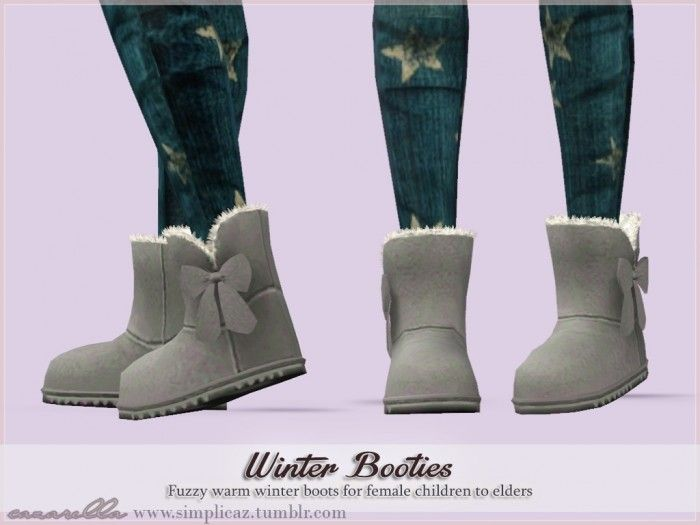 Fuzy warm winter boots by Sim-pli Caz - Sims 3 Downloads CC Caboodle