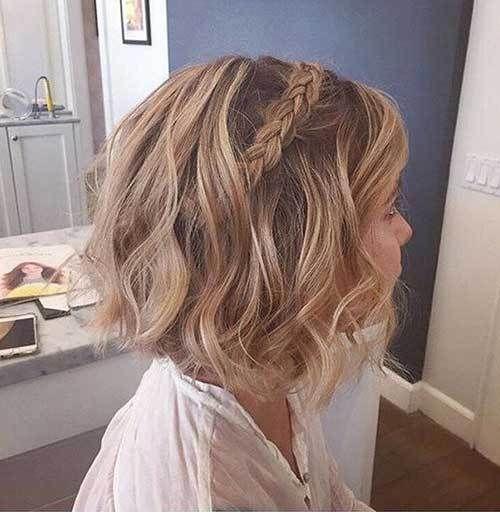 15 good-looking braided short hairstyles: # 4. Bridesmaid hair for short hair; #b ... - Nails # # # Bridesmaid Hair # Hairstyles