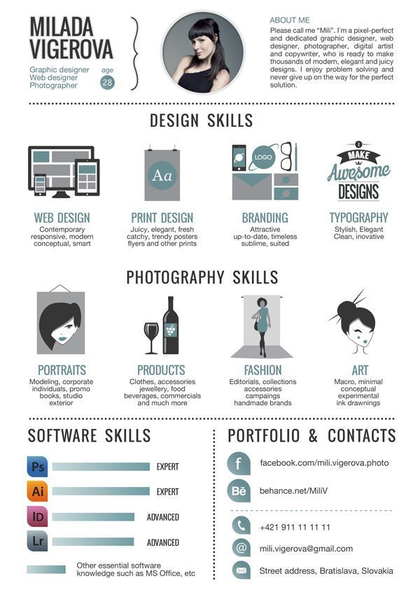 30 Examples Of Creative Graphic Design Resumes Resume Graphic