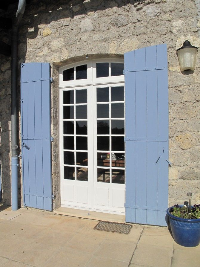 315 best french blue shutters provence images on for French country window shutters