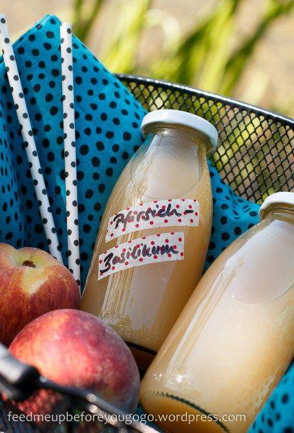 Bicycle dilemma with peach-basil lemonade