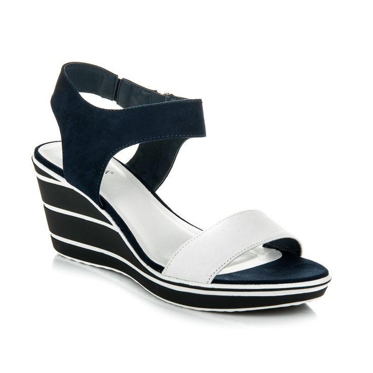 Klinové sandále na zips RB17-453N