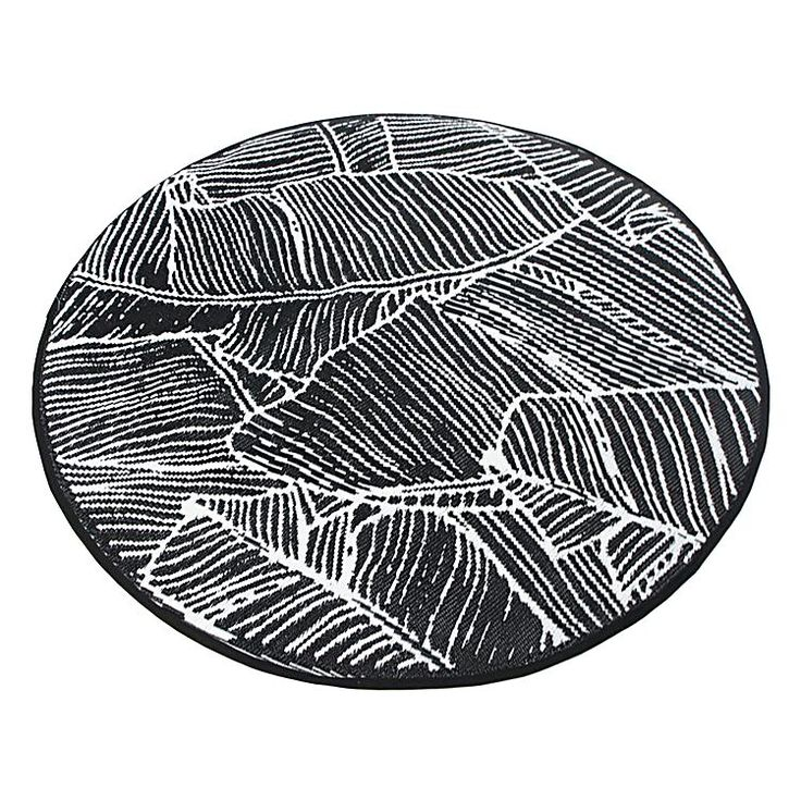 Create A Tropical Impact In Your D Eacute Cor With The Modish Tones Of Banana Leaf Round Outdoor Rug Black From Stoneleigh Roberson